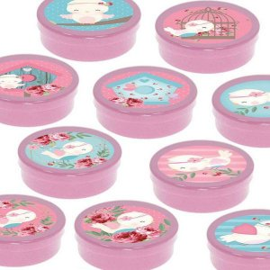 Latinha Lembrancinha Festa Jardim Encantado - 8cm - 20 unidades - Rosa -  Rizzo Embalagens e Festas