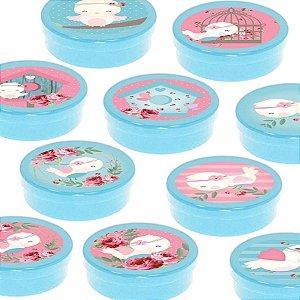 Latinha Lembrancinha Festa Jardim Encantado - 8cm - 20 unidades - Azul -  Rizzo Embalagens e Festas