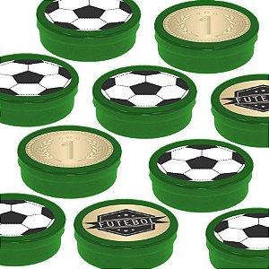 Latinha Lembrancinha Festa Futebol - 8cm - 20 unidades - Verde -  Rizzo Embalagens e Festas