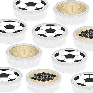 Latinha Lembrancinha Festa Futebol - 8cm - 20 unidades - Branco -  Rizzo Embalagens e Festas