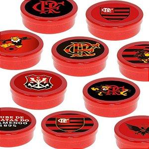 Latinha Lembrancinha Festa Flamengo - 8cm - 20 unidades - Vermelho -  Rizzo Embalagens e Festas