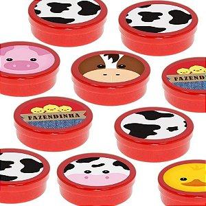 Latinha Lembrancinha Festa Fazendinha - 8cm - 20 unidades - Vermelho -  Rizzo Embalagens e Festas