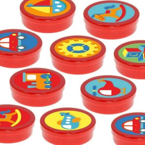 Latinha Lembrancinha Festa Fábrica de Brinquedos - 8cm - 20 unidades - Vermelho -  Rizzo Embalagens e Festas