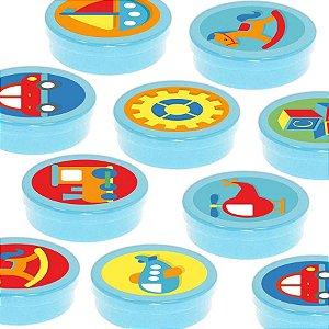 Latinha Lembrancinha Festa Fábrica de Brinquedos - 8cm - 20 unidades - Azul -  Rizzo Embalagens e Festas