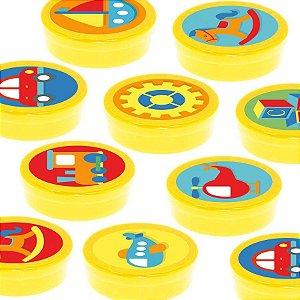 Latinha Lembrancinha Festa Fábrica de Brinquedos - 8cm - 20 unidades - Amarelo -  Rizzo Embalagens e Festas