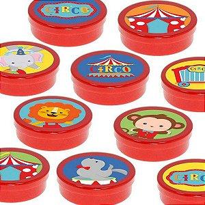 Latinha Lembrancinha Festa Circo 2 - 8cm - 20 unidades - Vermelho -  Rizzo Embalagens e Festas