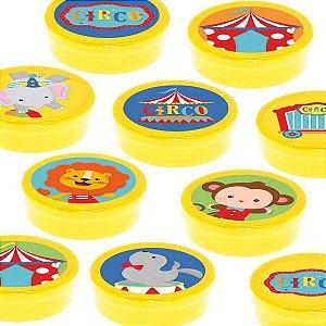 Latinha Lembrancinha Festa Circo 2 - 8cm - 20 unidades - Amarelo -  Rizzo Embalagens e Festas