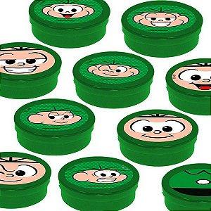 Latinha Lembrancinha Festa Cebolinha - 8cm - 20 unidades - Verde - Rizzo Embalagens e Festas