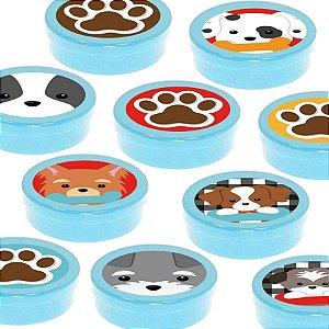 Latinha Lembrancinha Festa Cachorrinhos - 8cm - 20 unidades - Azul -  Rizzo Embalagens e Festas