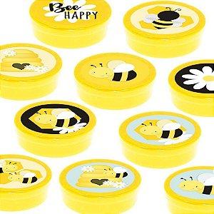 Latinha Lembrancinha Festa Abelhinha - 8cm - 20 unidades - Amarelo -  Rizzo Embalagens e Festas