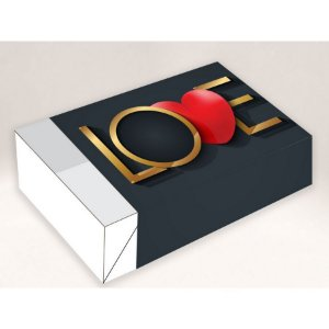 Caixa Divertida Love 6 doces - Ref. 1637 - 10 unidades - Erika Melkot Rizzo Embalagens