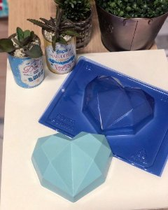 Forma de Acetato Coração Dimond 500gr Porto Formas Ref 62 - Rizzo Embalagens