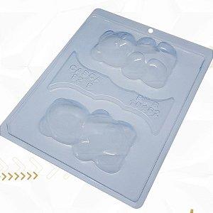 Forma de Acetato Ursinho Sentado Especial Cód. 10162 BWB Rizzo Embalagens