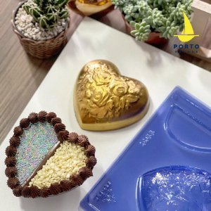 Forma Especial Coração Flores 2 Recheios Ref. 1100 Porto Formas Rizzo Embalagens