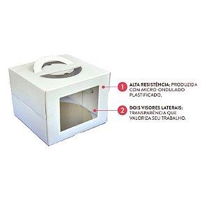 Caixa para Bolo com Visor 28,5x22cm - Ultrafest - Rizzo Embalagens