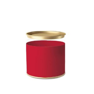 Lata para Bombons Liso Vermelho - 01 unidade - Cromus - Rizzo Embalagens