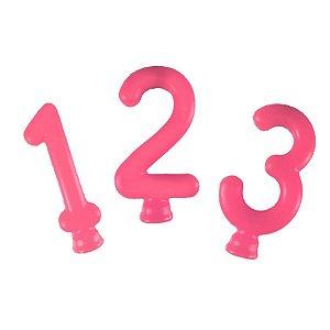 Vela Rosa Neon  - 01 Unidade - Festcolor - Rizzo Embalagens