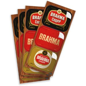 Adesivo Brahma Retangular - 12 Unidades - Festcolor - Rizzo