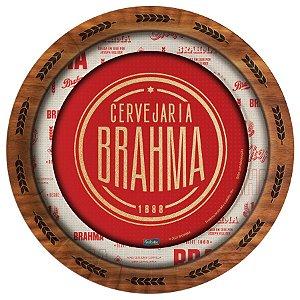 Prato Descartável Festa Brahma Redondo - 18cm - 08 unidades - Festcolor - Rizzo
