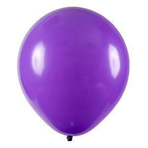 Balão de Festa Redondo Profissional Látex Liso - Roxo - Art-Latex - Rizzo Balões