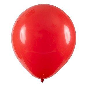 Balão de Festa Redondo Profissional Látex Liso - Vermelho - Art-Latex - Rizzo Balões