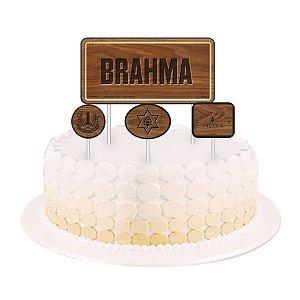 Topper para Bolo Festa Brahma - 04 unidades - Festcolor - Rizzo