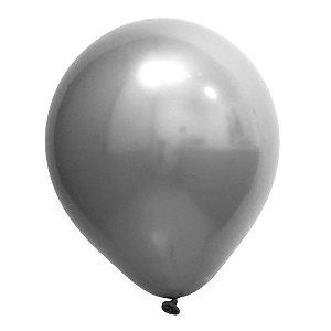 Balão de Festa Redondo Profissional Látex Cromado - Prata - Art-Latex - Rizzo Balões