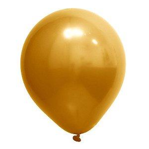 Balão de Festa Redondo Profissional Látex Cromado - Ouro - Art-Latex - Rizzo Balões
