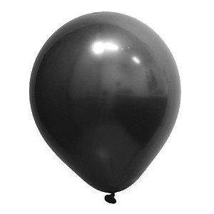 Balão de Festa Redondo Profissional Látex Cromado - Onix - Art-Latex - Rizzo Balões