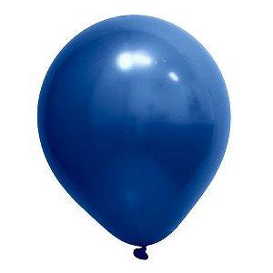 Balão de Festa Redondo Profissional Látex Cromado - Azul - Art-Latex - Rizzo Embalagens