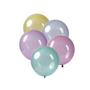 Balão de Festa Redondo Profissional Látex Cristal Candy - Sortido - Art-Latex - Rizzo Balões