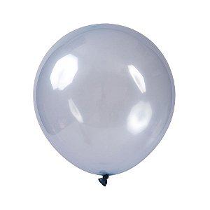 Balão de Festa Redondo Profissional Látex Cristal Candy - Azul - Art-Latex - Rizzo Balões