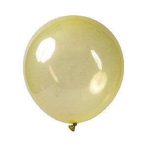 Balão de Festa Redondo Profissional Látex Cristal Candy - Amarelo - Art-Latex - Rizzo Balões