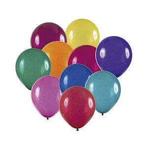 Balão de Festa Redondo Profissional Látex Cristal - Sortido - Art-Latex - Rizzo Balões