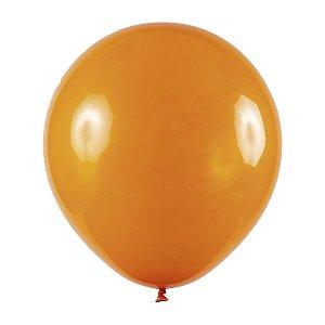 Balão de Festa Redondo Profissional Látex Cristal - Laranja - Art-Latex - Rizzo Balões
