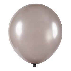 Balão de Festa Redondo Profissional Látex Metal - Prata - Art-Latex - Rizzo Embalagens