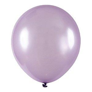 Balão de Festa Redondo Profissional Látex Metal - Lilas - Art-Latex - Rizzo Embalgens