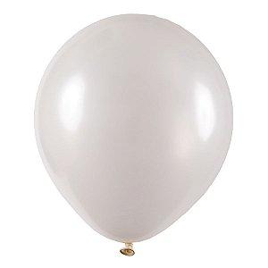 Balão de Festa Redondo Profissional Látex Metal - Branco - Art-Latex - Rizzo Embalagens