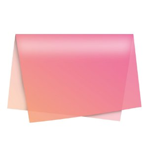 Papel de Seda - 49x69cm - Degradê Rosa - 10 folhas - Rizzo Embalagens