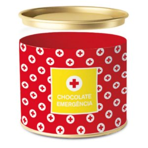 Lata para Bombons Chocolate Emergência - 01 unidade - Cromus - Rizzo Embalagens