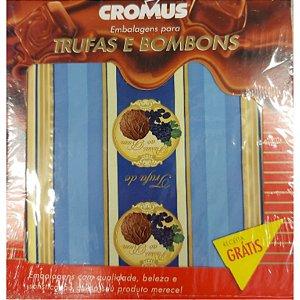 Papel Trufa 15x16cm - Passas ao Rum - 100 unidades - Cromus - Rizzo Embalagens