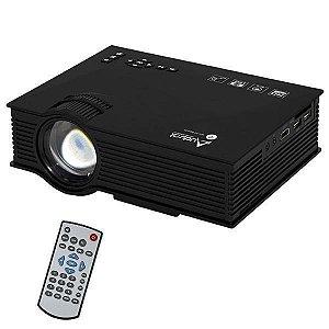 Projetor Audisat PJ-046 de 1.200 Lúmens Wi-Fi/HDMI Bivolt - Preto
