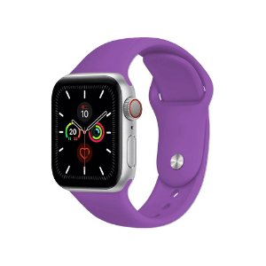 Pulseira Apple Watch Silicone - Roxa
