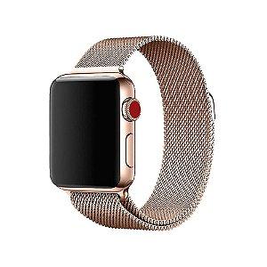 Pulseira Apple Watch Milanese - Dourada