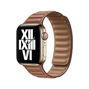 Pulseira Apple Watch Elos em Couro - Castanha