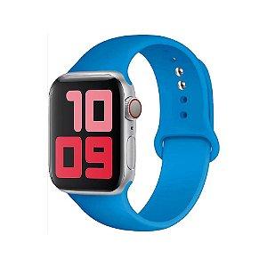 Pulseira Apple Watch Silicone - Oceano Azul