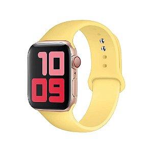 Pulseira Apple Watch Silicone - Canário amarelo