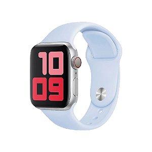 Pulseira Apple Watch Silicone - Nevoeiro Azul