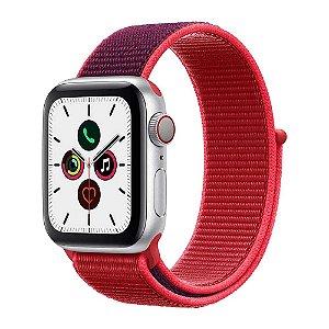 Pulseira Apple Watch Sport Loop - Vermelha e Roxo