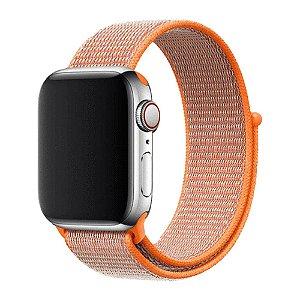 Pulseira Apple Watch Sport Loop - Laranja Quente